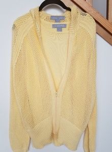 Modern Soul hooded cardigan with tank top sz Lg